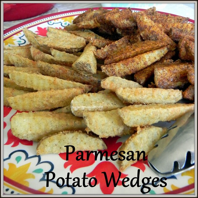 Golden Parmesan Potato Wedges