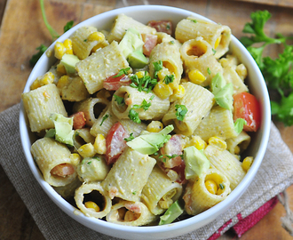 Pasta Salad with Corn, Tomatoes, and Avocados