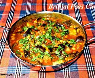 Brinjal Peas Curry, Vankaya Batani Kura, How to Make Brinjal Peas Curry