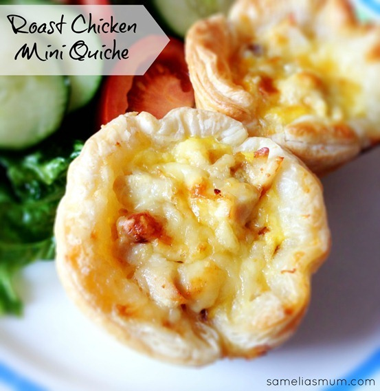 Roast Chicken Mini Quiche {Recipe}