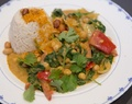Indiaase kikkererwten en spinazie curry