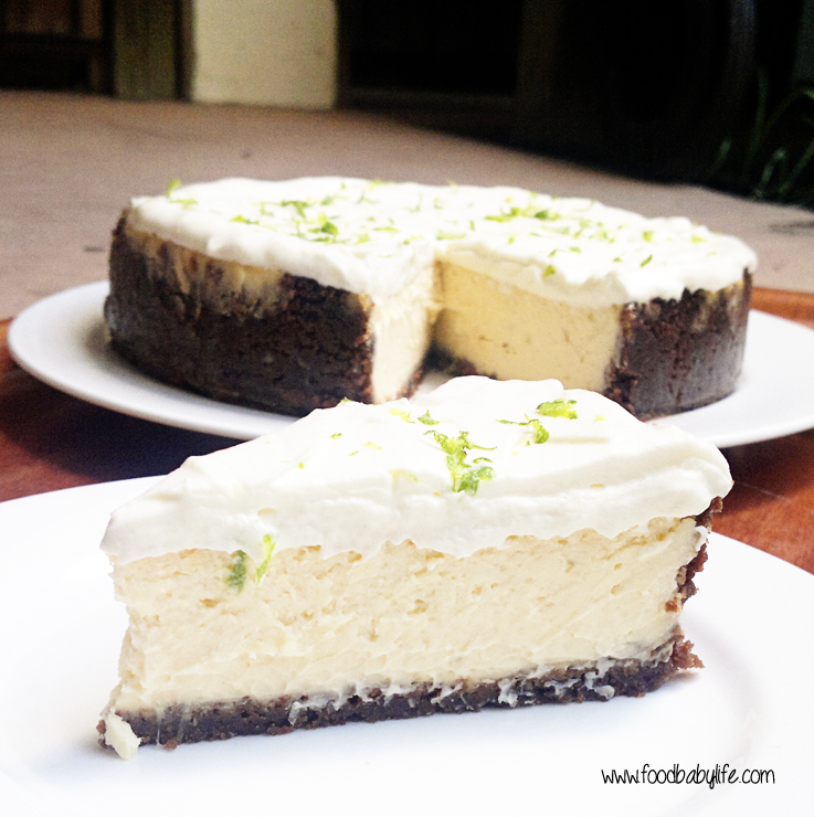 Lime Cheesecake with Gingernut Crust