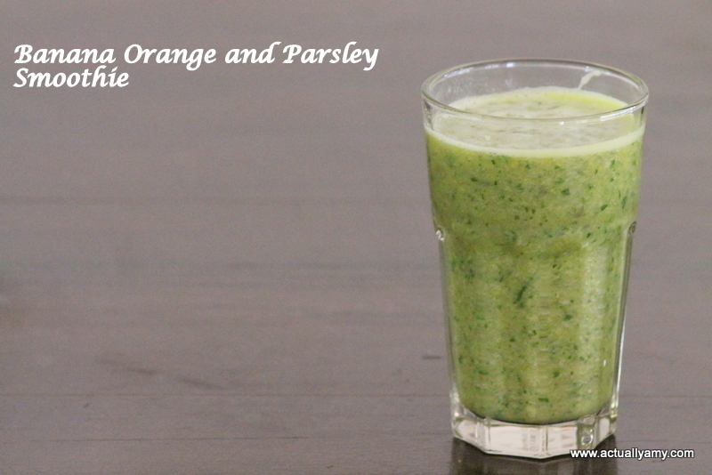 Day 29: Banana, Orange and Parsley Smoothie