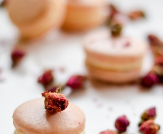 Rose and vanilla macarons: the power of flavours