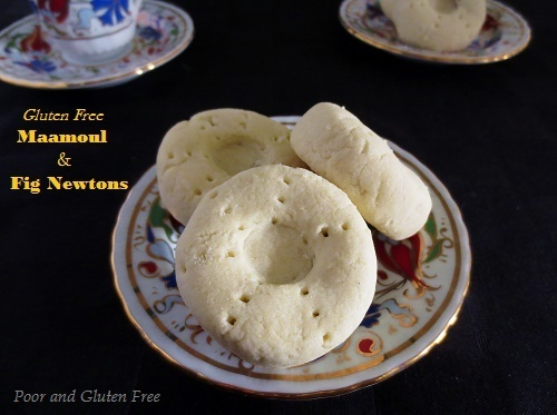 Gluten Free Ma'amoul / Middle Eastern fruit-filled biscuit cookies (nut-free, with fig filling and vegan option)