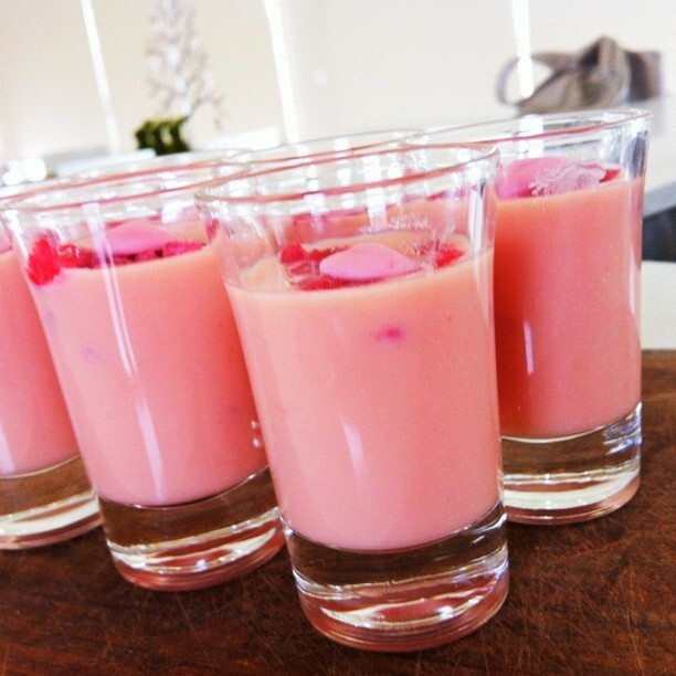 ※ Strawberry White Chocolate Shot Glass Desserts
