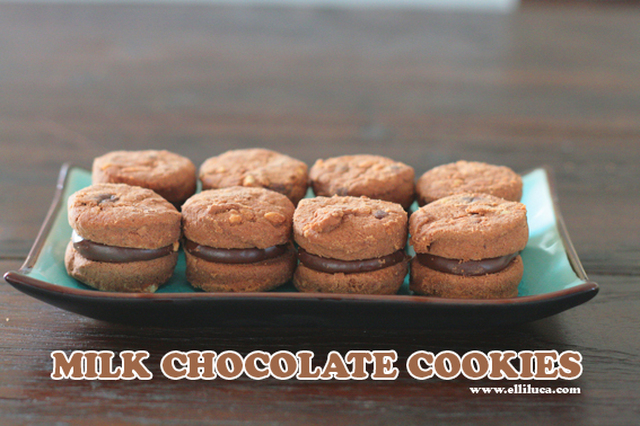 ※ Milk Chocolate Cookies With Ganache Filling