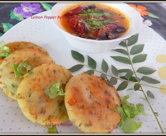 Lemon Pepper Rasam with Stuffed Rice Roti - Tamil Nadu