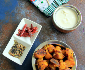 Achari Potato Recipe - spicy potato with pickle spices - Potato Recipes
