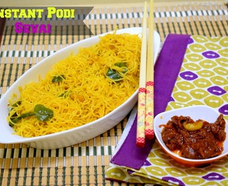 Instant Podi Sevai ~ Cooking for One