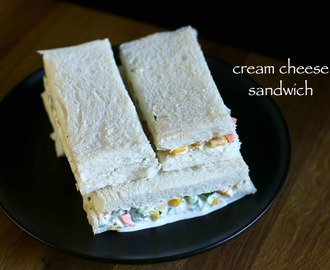 cheese sandwich recipe | veg cream cheese sandwich recipe