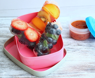 Back to school met fruit summer rolls
