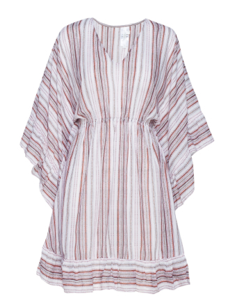 Ruffled Stripe Kaftan