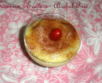 Tiramisu -  Eggless and Alcohol free