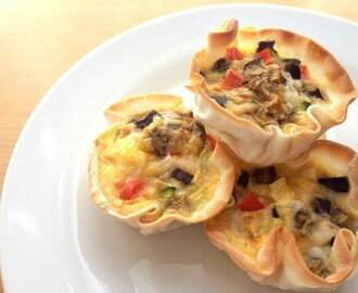 Mini Wonton Quiche Recipe