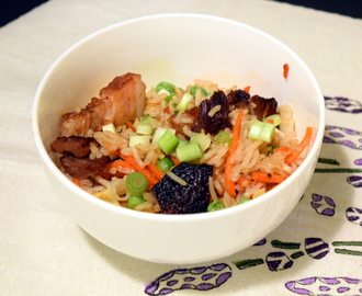 Garlic Fried Rice with Char Siu