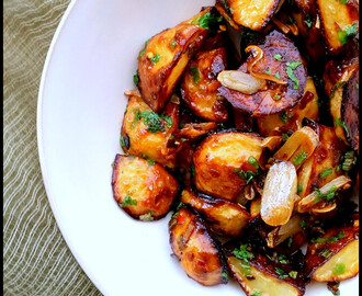 Asian Style Roasted Potatoes...don't wonder, plate up!!