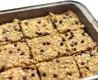 Chocolate Chip Zucchini Bread Oatmeal Bars