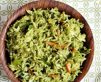 cilantro rice recipe | Indian coriander rice recipe