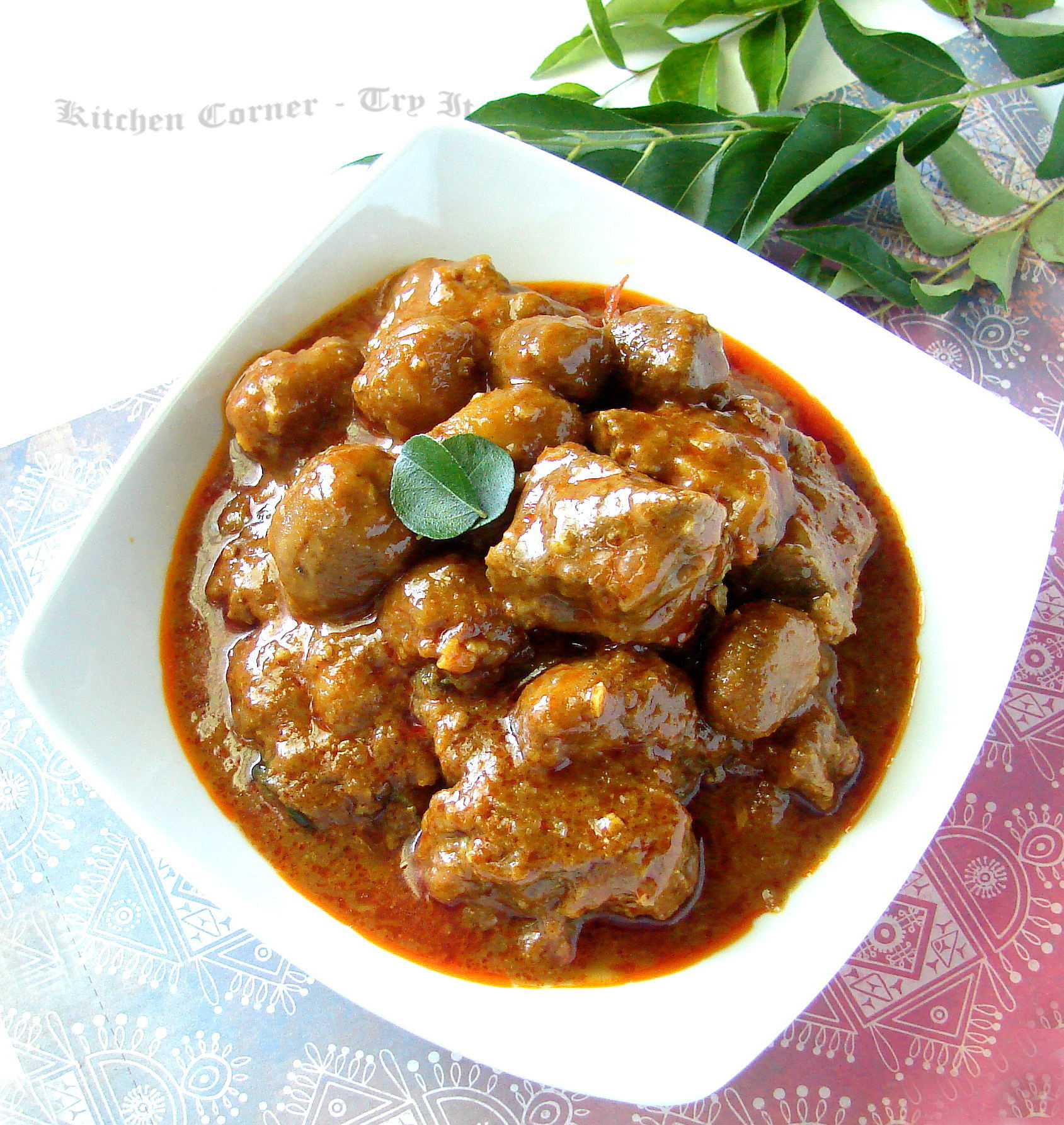 Koorka Irachi Curry/Chinese Potato and Beef Curry