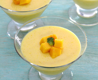 Mango pudding recipe (Without gelatin / With agar agar)