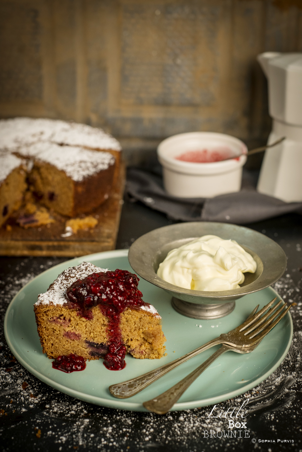 Gluten Free Apple and Berry Cake