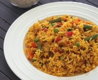 Spicy veg pulao recipe | How to make spicy vegetable pulao
