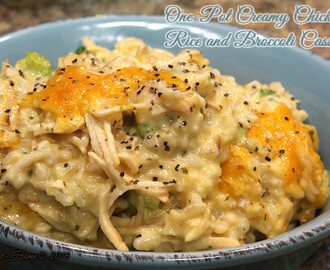 One-Pot Creamy Chicken Broccoli and Rice Casserole Recipe