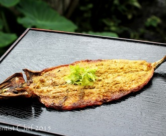 Hot Smoked Mackerel Pike Fish (Sanma or Pacific Saury Fish) with Japanese Sansho Peppercorn