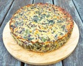 Spinach, Broccoli, Kale & Black Rice Egg Free Frittata