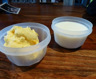 Home Made Butter and Buttermilk