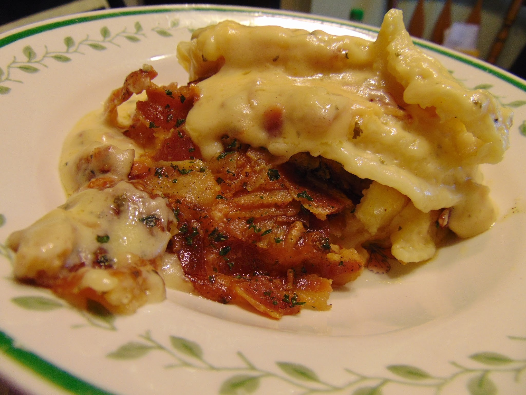 Perogie Mac & Cheese with Bacon!