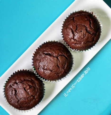Chocolate Banana Muffins (Nigella Lawson)