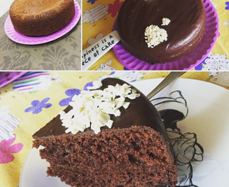 "Bizcocho chocolate ""Tipo sacher"""