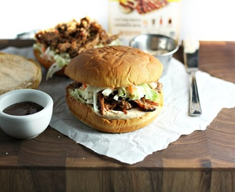 Sweet Honey Pulled Pork Sandwiches with Smoky Aioli
