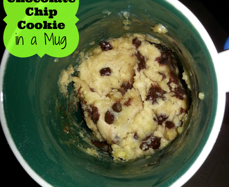 Chocolate Chip Cookie recipe in a Mug