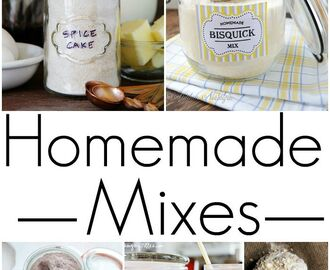 Homemade Mixes (Brownie Mix, Bisquick, Pancake, etc.)