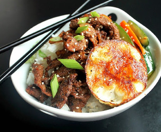Korean Bulgogi Steak with Fried Egg
