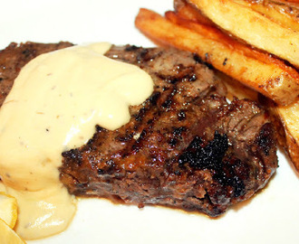 Grilled Beef Tenderloin Steak with Creole Belgium Fries and Gorgonzola Cream Sauce