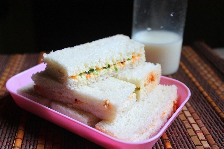 Veg Finger Sandwich Recipe - Veg Tea Sandwich Recipe