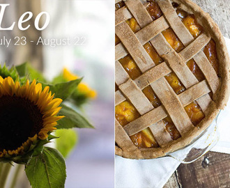 Leo Birthday Post & Recipe: Spiced Peach Pie (V + GF)