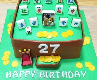Mahjong 13 wonders cake with a picture