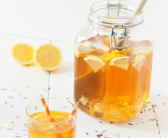 Home made lemon ice tea