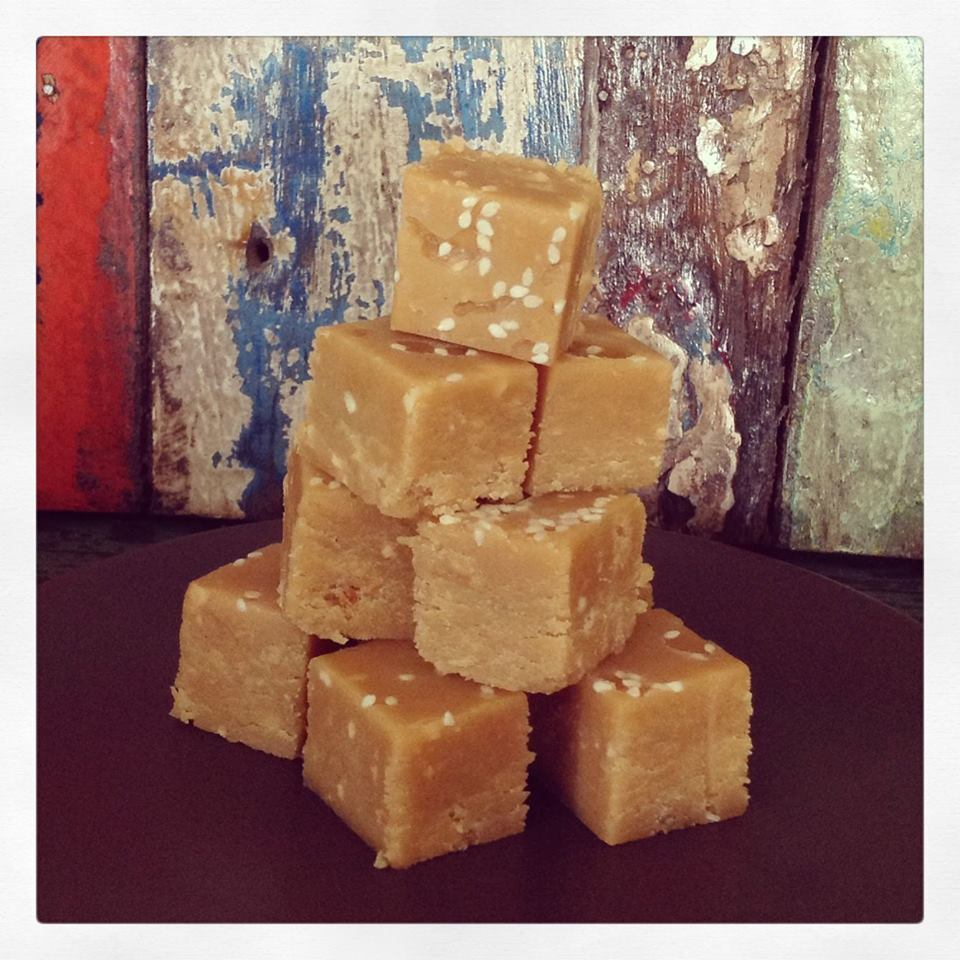 Peanut Butter & Sesame Fudge | Thermomix recipe