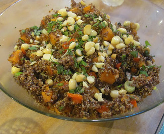 red quinoa and sweet potato salad