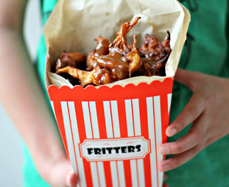 Apple Fritters with Salted Caramel Sauce