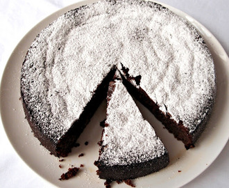 Flourless Chocolate Lime Cake with Margarita Cream (Gluten-Free)