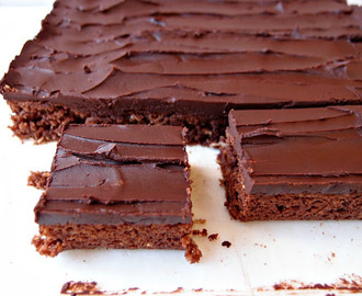 Chocolate Slice with Chocolate Sour Cream Ganache