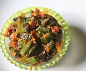 Ladies Finger Curry Recipe - Vendakkai Curry Recipe - Bhindi Sabzi Recipe