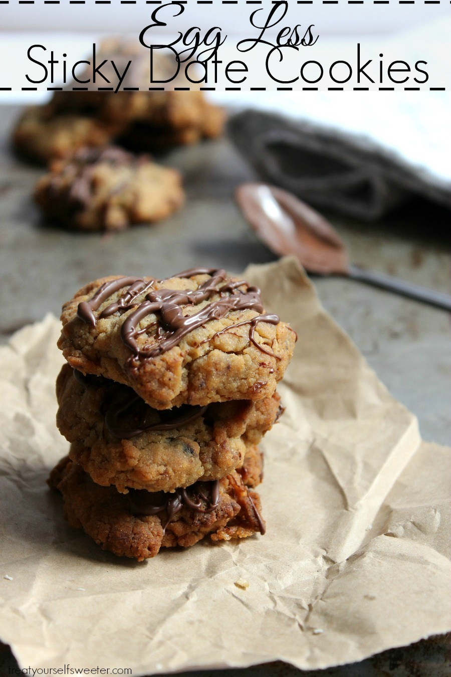 Eggless Sticky Date Cookies